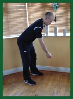 Pendulum exercise for shoulder by Naas Physio Clinic
